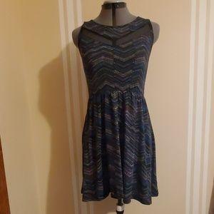 Chevron dot dress